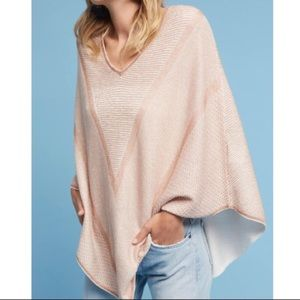 Anthropologie Lili's Closet Rose Gold Poncho